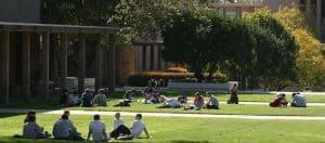 Outdoor class in Harvey mudd College