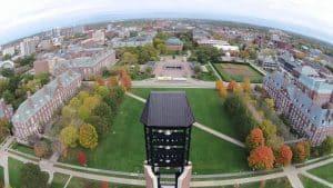 University of Illinois Urbana-Champaign campus aerial view