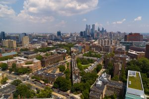UPenn aerial view of campus.