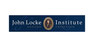 John Locke Institute logo in blue and white colors.