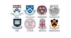 Logo of Ivy League schools.